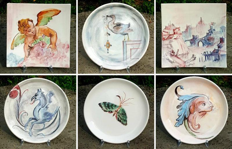 Alcuni nostri piatti ispirati agli affreschi della Rocca di Sala Baganza.
